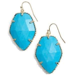 NEW Kendra Scott Corley Turquoise/Gold earrings